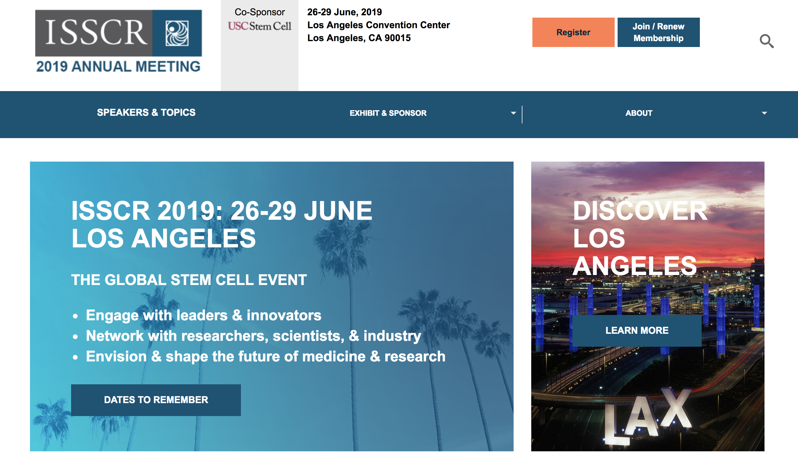 International Society for Stem Cell Research (ISSCR) Annual Meeting