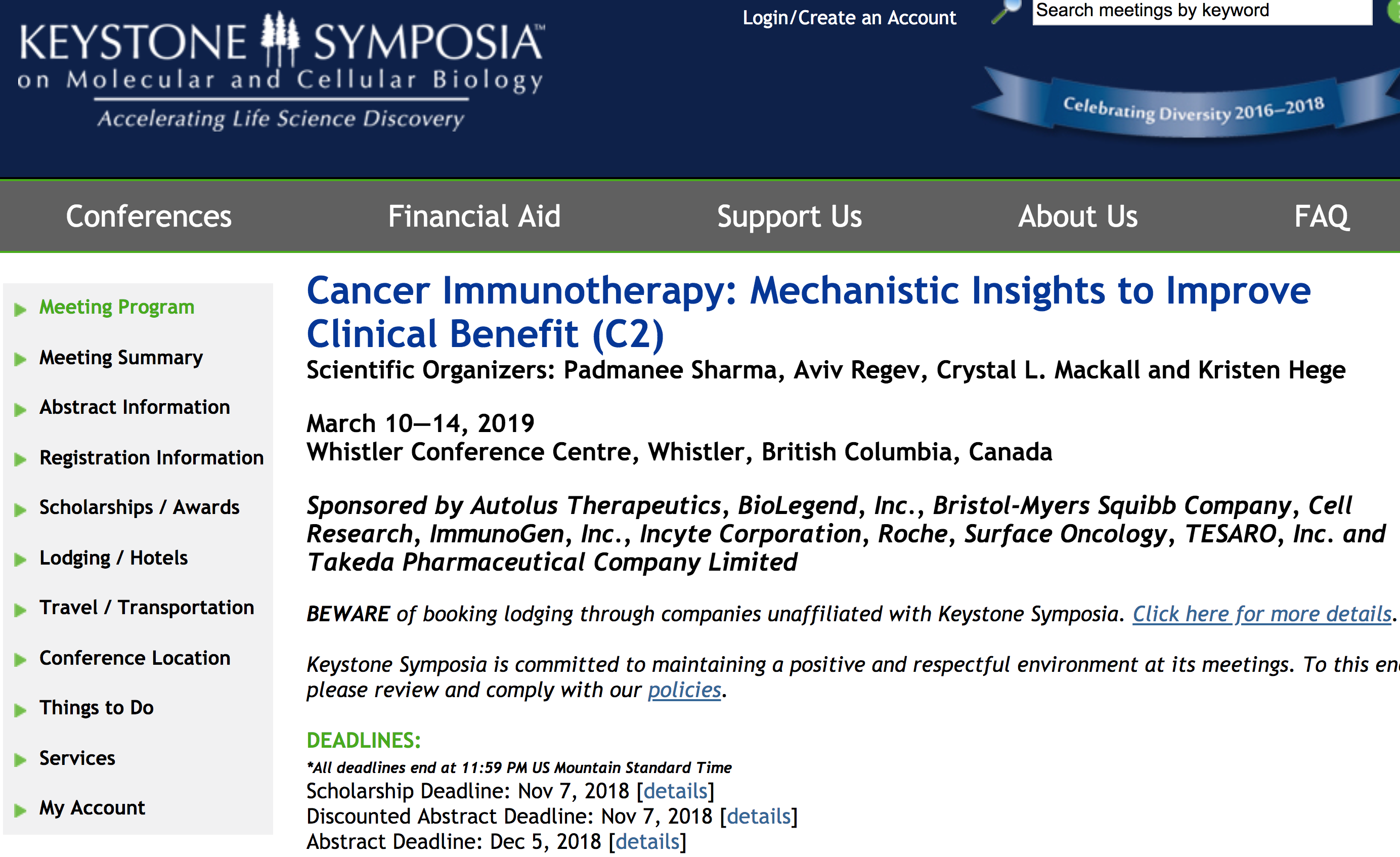 Keystone Symposia: Cancer Immunotherapy