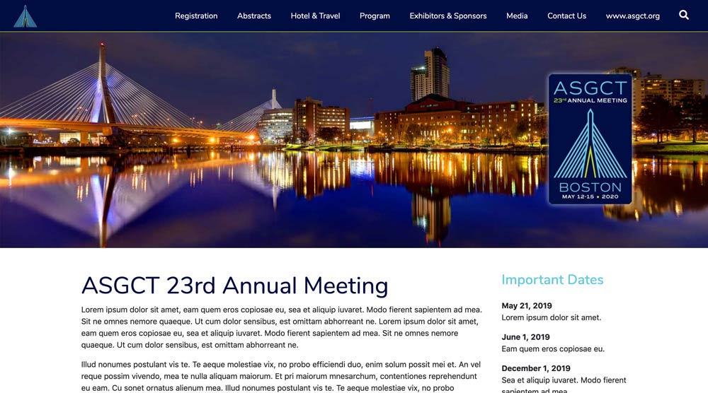 American Society for Gene and Cell Therapy (ASGCT) Annual Meeting