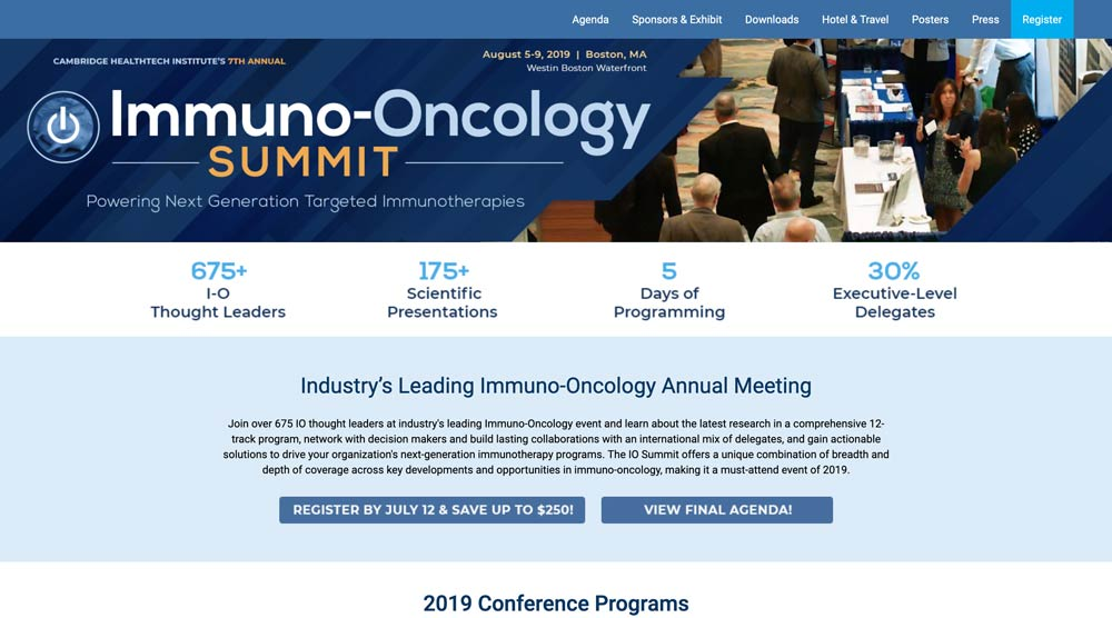 Immuno-Oncology Summit - Adoptive Cell Therapy