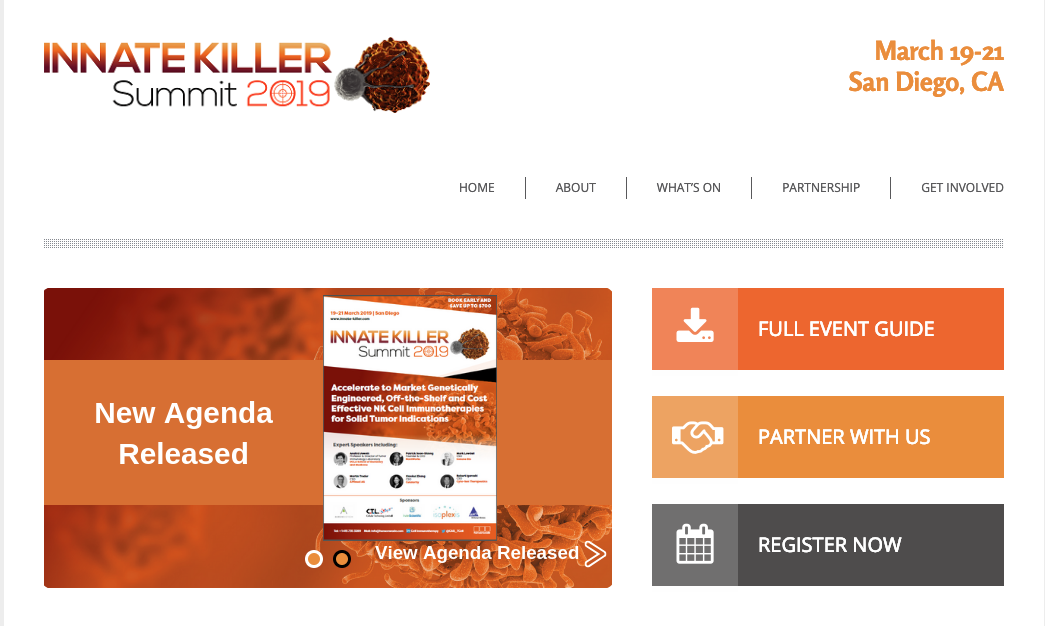 Innate Killer Summit 2019 - NK Cell Therapy Conference