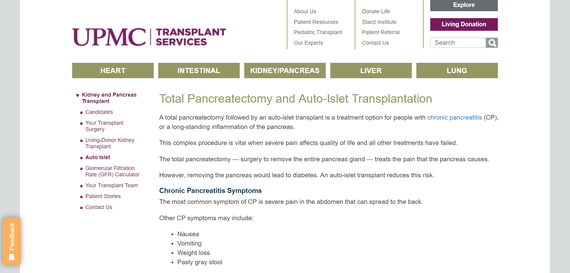 University of Pittsburgh Medical Center Transplant Services