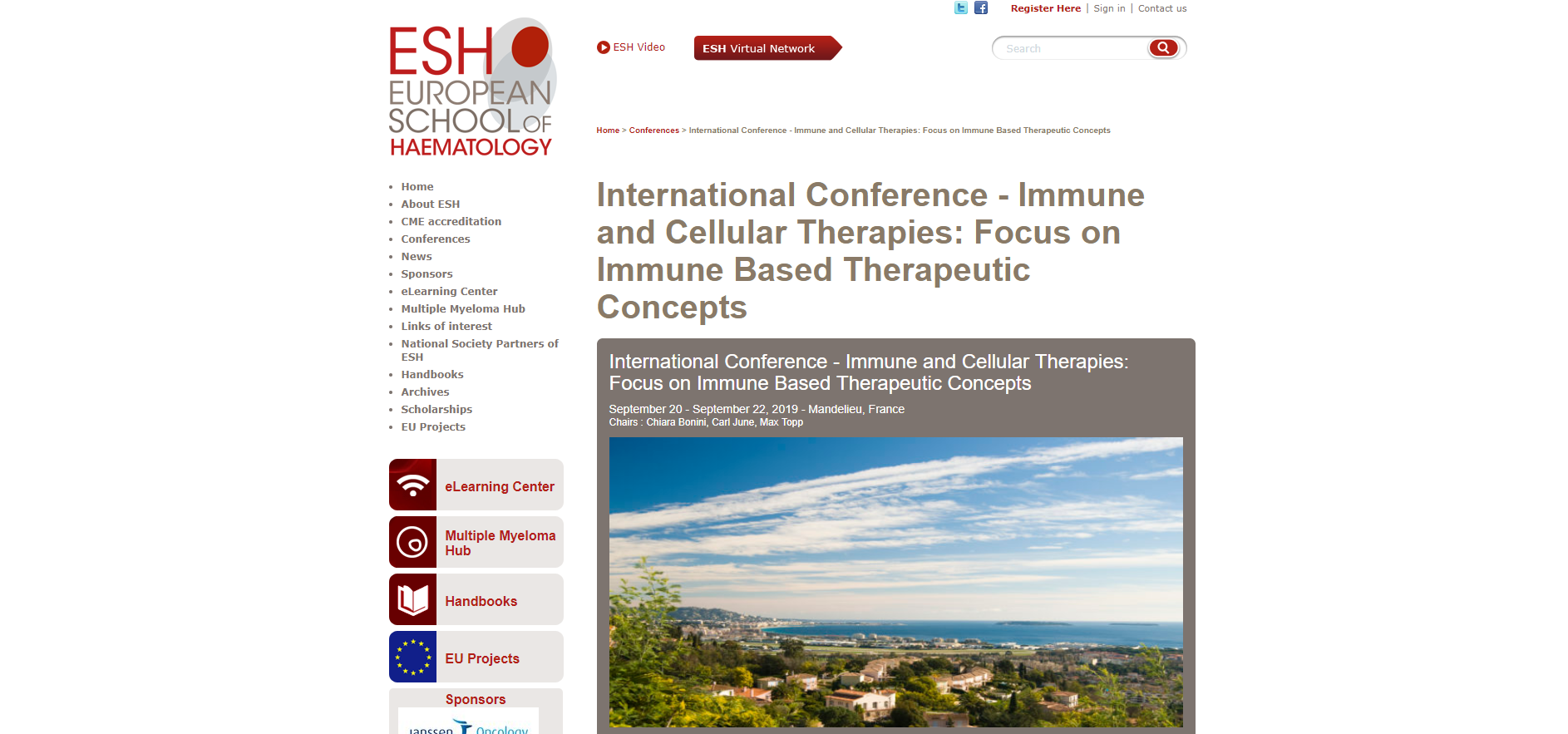 International Conference Immune and Cellular Therapies, Focused on Immune Based Therapeutic Concepts