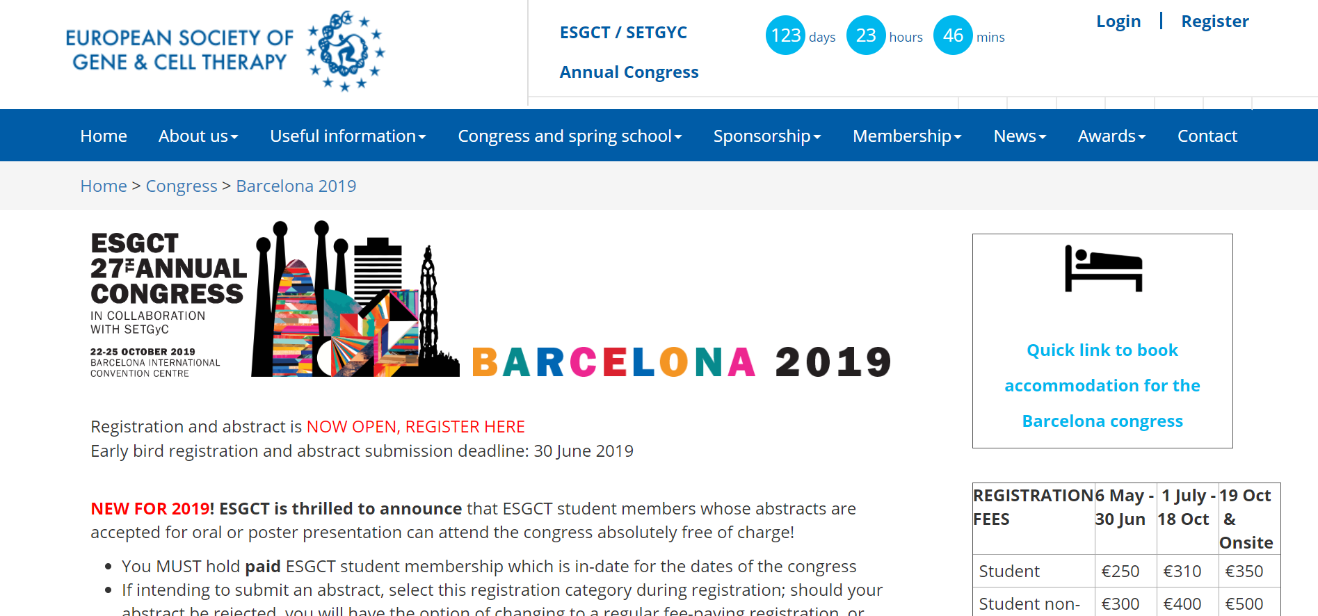 Annual Congress of the European Society of Gene and Cell Therapy