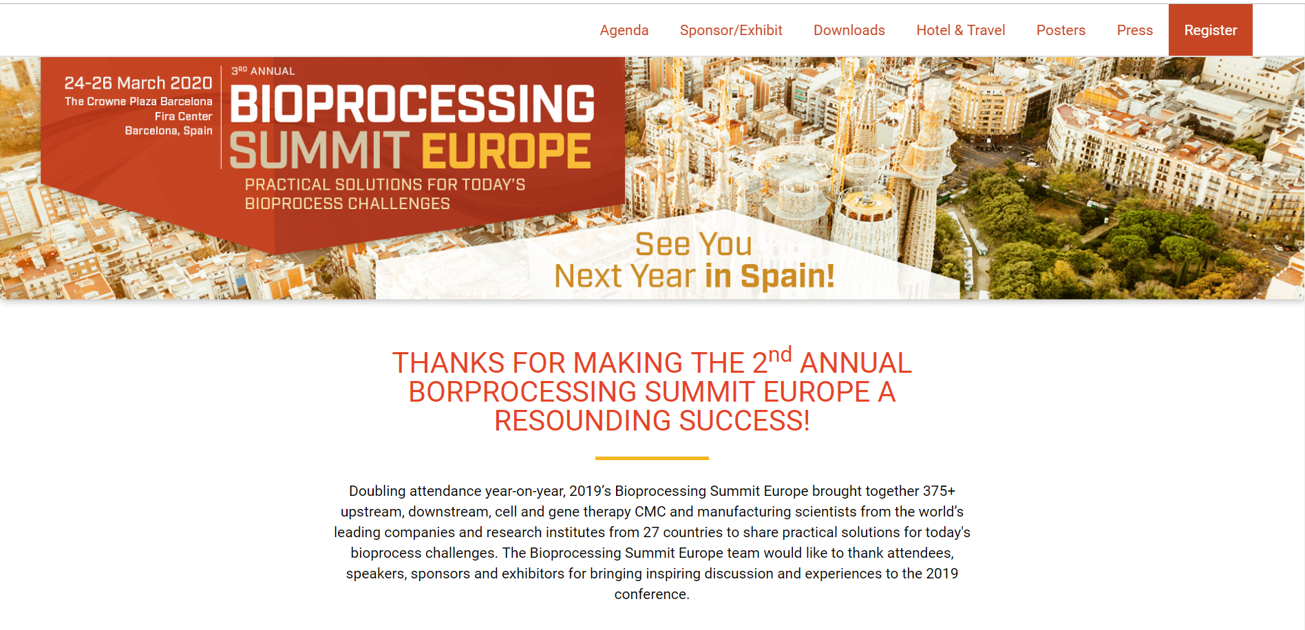 Third Annual Bioprocessing Summit Europe